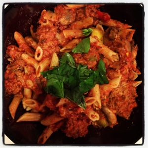 Meatless Meatballs and Penne Pasta Recipe