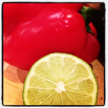 Vibrant Lime with Bell Pepper