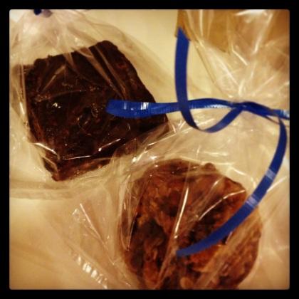 Brownies and Cookies for Vegan Bake Sale