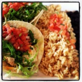 Vegan Tofu Tacos from Wahoo's in San Clemente, CA