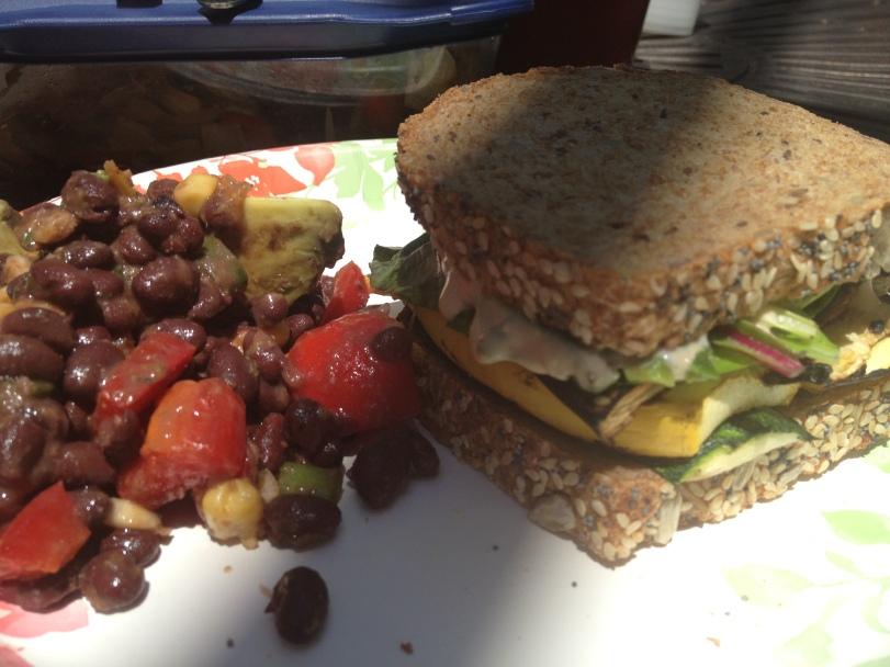 Impromptu Grill Out Sandwich