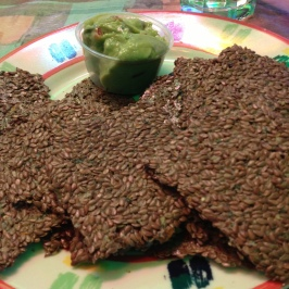 Guacamole with Flax Chips