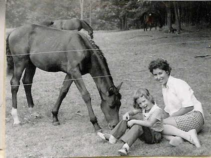 Loving Horses Runs in the Family My Grandmother and Aunt Pictured with a Beautiful Horse