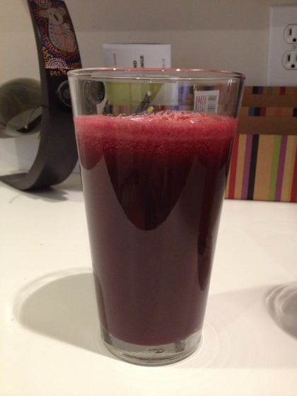 Beet and Pear Juice