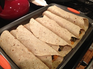 Rolled up tacos ready for baking!