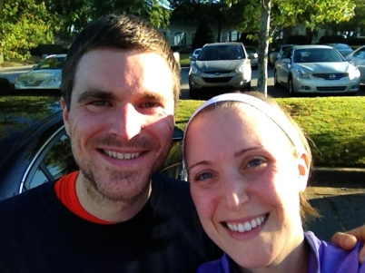 Me and the hubby at the 5K