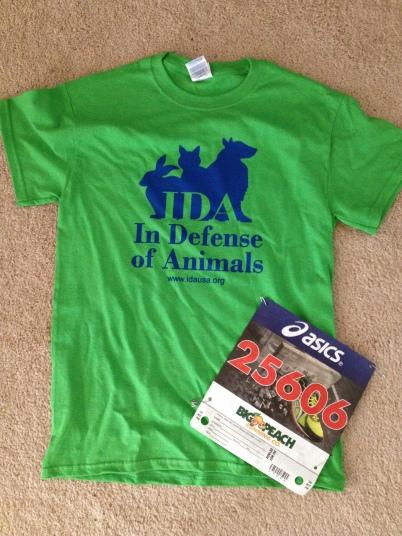 Run in Defense of Animals Race Shirt and Bibb