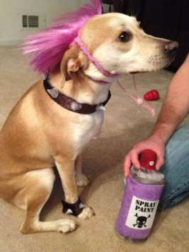 Dali in her Halloween costume