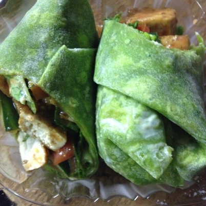 Jerked Tofu Wrap