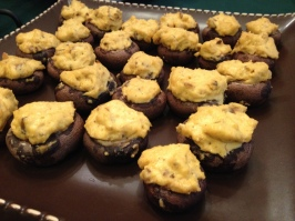 Veganized Stuffed Mushrooms