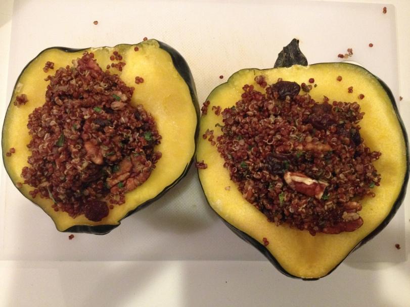 Acorn Squash Stuffed with Quinoa