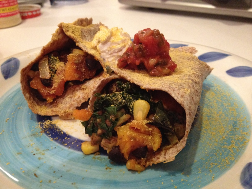 Butternut Squash and Kale Burritos