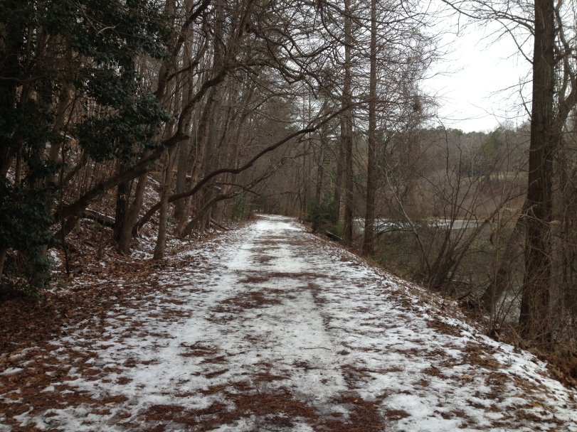 5-mile run path in Atlanta