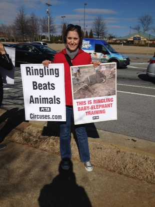Alison Protesting Ringling