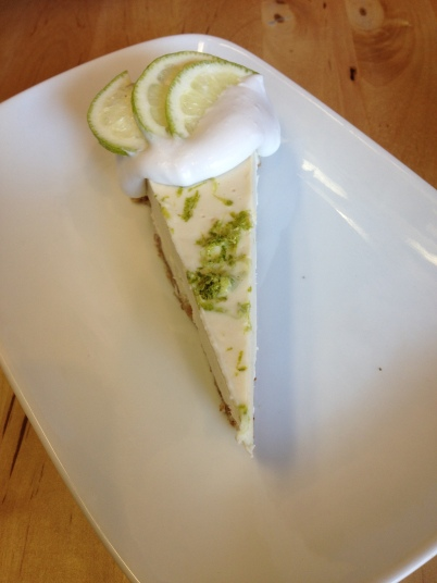 Raw Key Lime Pie at Sage Kitchen