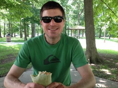 Kevin picnicing