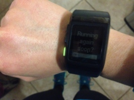 "My watch asked ""Running again soon?"" on the day of the race. Oh, you have no idea!"