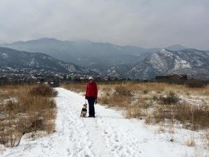 Me and Dali Hiking Bear Creek