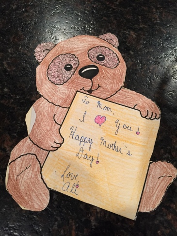 An old Mother's Day card I made for my mom