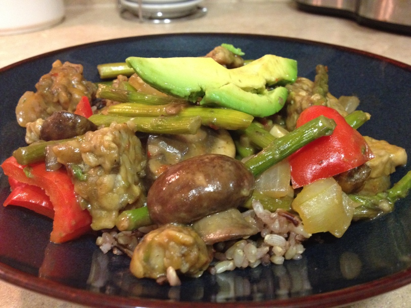 Spicy Asparagus and Tempeh 2