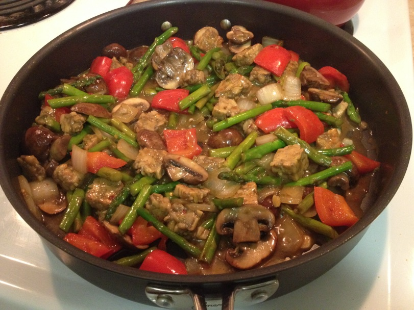 Spicy Asparagus and Tempeh