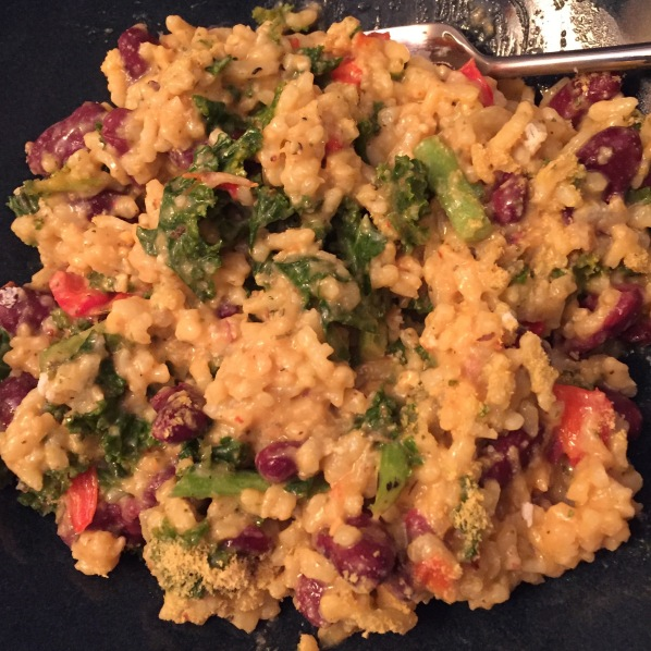 My own version of Kale and Bean Risotto
