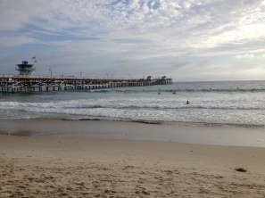Enjoying the views at the San Clemente Pier