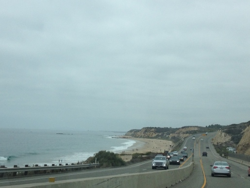 Driving up the coast to Venice Beach