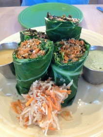 Collard Wraps at Cafe Gratitude in Venice Beach